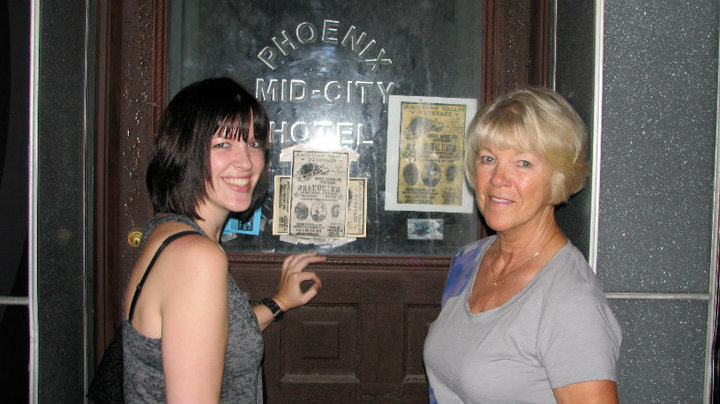 Me and Linders on a DTB ghost walk.